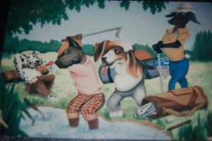 Golfing Dogs