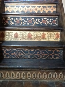 "My newest ""Creation""…..  Inlay stained Staircase"